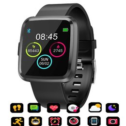 Touch Screen Watches For Men Australia - CY7 PRO Y7P Smart watch Full screen touch IP67 waterproof Bluetooth Sport fitness tracker Men Smartwatch For IOS Android Phone