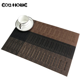 coasters cup mats disc Canada - 2 4 6pieces Set Bamboo Knot Mats Pads Hotel Western Mat PVC Insulation Waterproof Table Cup Mat Dining Disc Bowl Pad Coaster T200702