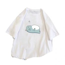 Korean Shirt Dress UK - White T-shirt Short Sleeve 2019 New Summer Dress Korean Version Loose Bf Half Sleeve Pure Cotton T-shirt Student i