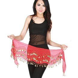$enCountryForm.capitalKeyWord Australia - 2019 Hip Scarf Belly Dance Costumes Sequins Bellydance Waist Chain Hip Scarf Shawl Warps Belts Belly Dancing Costume 5 Colors