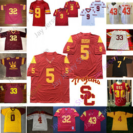usc football Australia - Custom USC Trojans Southern California Football Jersey NCAA College Palmer Jackson Pittman Williams Kalil Leinart Williams Johnson Russell