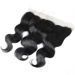 $enCountryForm.capitalKeyWord UK - 8A Brazilian Malaysian Peruvian Indian Virgin Hair 13*4 Lace Frontal Closure Body Loose Deep Wave Straight lace frontal hair
