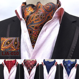 Wholesale Fashion Retro Paisley Cravat Luxury Men Wedding Formal Cravat British Style Gentleman Silk Scarves Neck Ties Suit Scarves Business Necktie