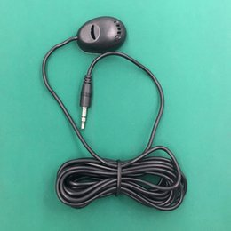 Wholesale Gps Radio Australia - PVC 3M Wired 3.5 mm Stereo Jack Mini Car Microphone External Mic For PC Car DVD GPS Player Radio Audio Microphone