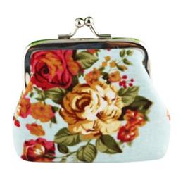 Cute Canvas Wallet Australia - Hot Women Cute Coin Purse Retro Vintage Flower Canvas Small Wallet Girls Change Pocket Pouch Hasp Keys Bag Metal Bar Opening New