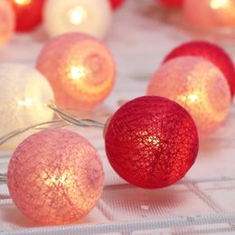 cotton brands NZ - 1m 10 Leds String Light Brand New Cotton Ball Fairy Holiday Lighting For Christmas Ramadan Wedding Party Lanterns Decoration Il