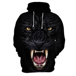 $enCountryForm.capitalKeyWord UK - Designer Mens 3D Print Hoodies Black Leopard Print Homme Plus Size Hooded Pullover Male Fashion Round Casual Tops