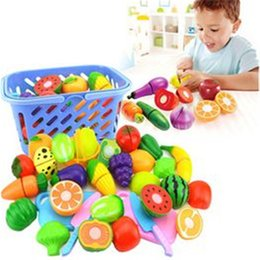 pretend kids kitchen play set NZ - 2020 Newest 8 12 15 Pc Kid Pretend Cutting Set Child Gift Role Play Kitchen Fruit Vegetable Food Toys Fruits And Vegetables Toys