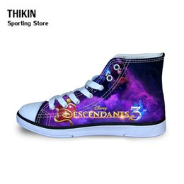 shoe laces for kids 2020 - THIKIN Descendants Children Causal Sport Sneakers for Boys Girls 2019 Spring Winter Kids Classical High Top Canvas Walki