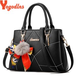 extra hair NZ - Yogodlns Women's 2019 Spring New Hair Ball Handbag Scarf Bucket Bath Mother Women Shoulder Messenger Bag Y190620