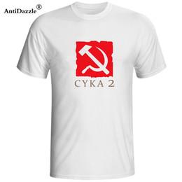 Dota shirts online shopping - Antidazzle russian Dota Cyka t shirts Men s Short Sleeve Shirts T shirt Creative Design Letter Vintage Tees Tops Male O neck