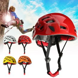 climb helmets Australia - New Safety Rock Climbing Hiking Downhill Caving Rappelling Rescue Helmet Protector Supplies CSL2020