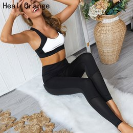 outfits wear yoga pants 2019 - Yoga Wear Gym Set Women Shirt Yoga Sets Women Gym Clothes Suit Womens Workout Clothing Sport Outfit Clothes discount out