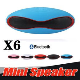 computer x6 NZ - X6 Small Wireless Bluetooth Speakers Portable Handsfree Speaker Built In MIC Audio Receiver Boom Box Support TF Card USB