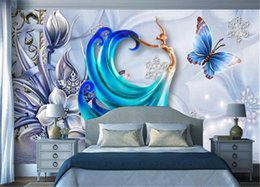 Discount insulation prices - Low Price For Wallpaper Beautiful ornate three-dimensional angel wall decoration wallpaper Custom Photo 3d Wallpape