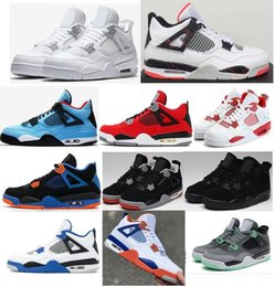 China High Quality 4 Pale Citron Alternate 89 Toro Bravo Basketball Shoes Men 4s Black Cat Florida Gators Green Glow CAVS Sneakers With Box supplier glow dark boxes suppliers