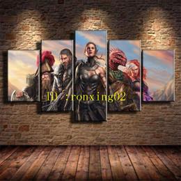$enCountryForm.capitalKeyWord Australia - Divinity Original Sin Ii,5 Pieces Home Decor HD Printed Modern Art Painting on Canvas (Unframed Framed)