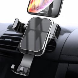 $enCountryForm.capitalKeyWord Australia - Gravity Car Phone Mount Cell Phone Holder For Car Hands Free Auto Lock Air Vent Holder