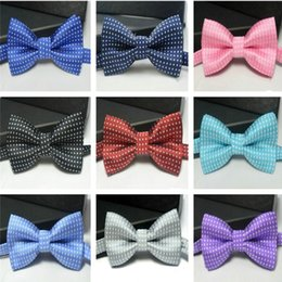 Handmade Christmas Gifts Kids NZ - Kids bowtie polka dot bow tie Boys Girls baby bowties women men bow ties fashion neckwear for Wedding Party Children Christmas Gift hot
