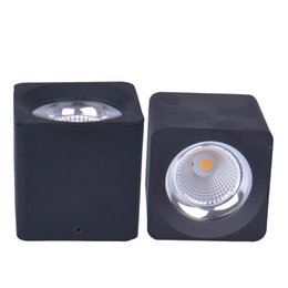 $enCountryForm.capitalKeyWord Australia - 20pcs lot 10w 20w 30w 40w Surface Mounted Led Downlights Ac110v-220v Led Downlight With White black Integral Aluminum Housing