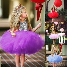 Sequined Tutu Australia - Sequined Flower Girl Dress Heart Backless Princess Formal Birthday Party Tutu Gown Kids Clothes