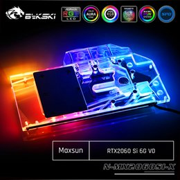 Wholesale Bykski N MX2060SI X Full Cover Graphics Card Water Cooling Block For Maxsun RTX2060 Si G V0 E sports