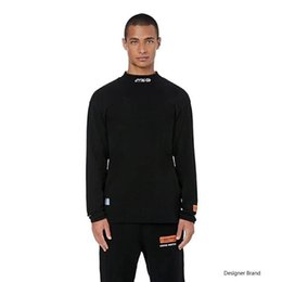 $enCountryForm.capitalKeyWord UK - 18FW Heron Preston Tee Crooked CTNMB Letter Embroidery High Collar Bottom Shirt T-Shirts Fashion Couple Highstreet HFLSWY245
