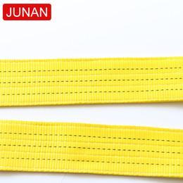 $enCountryForm.capitalKeyWord Australia - Towing strap customized 8m 3T 100% polyester flat crane hoist lifting webbing sling with double eyes