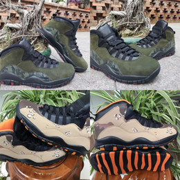 $enCountryForm.capitalKeyWord NZ - New 10 Desert Camo Rattan Black Dusted Clay Designer Basketball Shoes Woodland Camo X Medium Olive Black Dark Army Cinder Fashion Sneakers