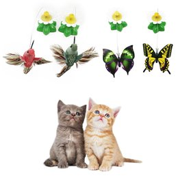 China 2018 Electric Rotating Colorful Butterfly Funny Dog Cat Toys Bird Pet Seat Scratch Toy For Kitten Cats Intelligence Trainning cheap wholesaler electric toys suppliers