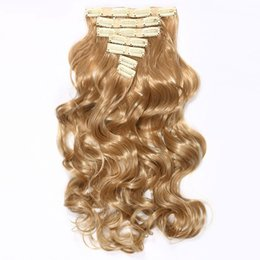 $enCountryForm.capitalKeyWord Australia - 20 Inches Long Wavy Synthetic Clip in Hair Extensions for Women Hairpieces Fake Hair High Temperature Fiber
