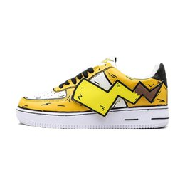 pikachu shoes NZ - New 07 Low SE Womens Mens yellow Skateboard Running Shoes 1s Pikachu Lightning Cute Designer Sports Sneakers Baskets des chaussures with box