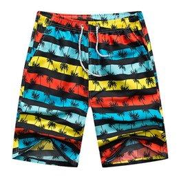 $enCountryForm.capitalKeyWord Australia - MISSKY Men Summer Shorts Large Size Colorful Printing Quick Dry Drawstring Beach Shorts Male Clothes