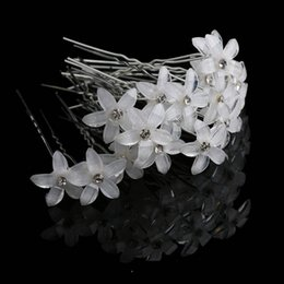 Blue rhinestone hair clips online shopping - 20pcs Crystal Rhinestone Flower Hair Pin Clips Women Wedding Bridal Hair Spiral Hairpins Fashion Jewelry