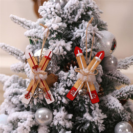 wooden pendant shapes Australia - Wooden X Shape Hanging Pendant Xmas Tree Decorative Ornaments Christmas Decoration For Home DIY Crafts ag19