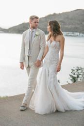 $enCountryForm.capitalKeyWord NZ - Latest Coat Pants Designs Grey Linen Mens Wedding Suits Man Blazers Classic Fit Groom Tuxedos 2Piece Summe Beach Wedding Party Costume Homme