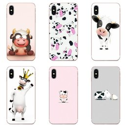 cute cases for iphone 5c NZ - Phone case Animal Cute Cow For Apple iPhone 11 Pro X XS Max XR 4 4S 5 5C 5S SE 6 6S 7 8 Plus TPU Printing Fundas