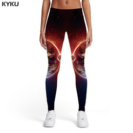 Xl Womens Leggings Australia - KYKU Galaxy Leggings Women Earth Ladies Flame Spandex Yin Yang Sexy Space Sport Womens Leggings Pants Casual Jeggins Funky