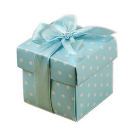 $enCountryForm.capitalKeyWord Australia - 10 pcs folding boxes wedding party favor gift box communion baptism blue