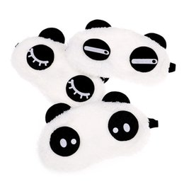 $enCountryForm.capitalKeyWord UK - New Cute Face White Panda Eye Mask Eyeshade Shading Sleep Cotton Goggles Eye Mask Sleep Mask Eye Cover Health Care Tools