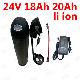 $enCountryForm.capitalKeyWord Australia - GTK 24v 18ah 20AH li-ion water bottle battery 18650 BMS 7S 20Ah lithium ion battery for 350w ebike bicycle scooter +3A Charger