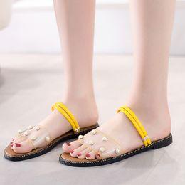 66c09b809 White Sandals For Beach Wedding Australia - rivet women sandals summer  shoes flat pearl sandals for