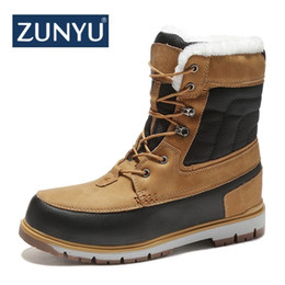 winter snow shoes for men NZ - Zunyu Winter With Fur Snow Boots For Men Sneakers Male Shoes Adult Casual Quality Waterproof Ankle -30 Degree Celsius Warm Boots MX190819