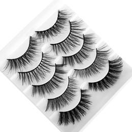 $enCountryForm.capitalKeyWord Australia - 5 Pairs 3D Mink Hair False Eyelashes Mixed Styles Wispy Full Volume Natural Lashes Feathery Flared Variety Pack Lashes