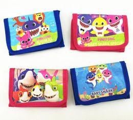 $enCountryForm.capitalKeyWord Australia - Baby shark cartoon wallet short coin purse card holder Kids Girls boys student change money Bags party favor Christmas Gifts FFA2363