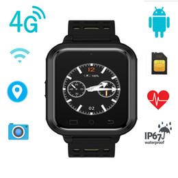 Wifi Wrist Phone Watch Waterproof NZ - 4G LTE Smart Watch Android 6.0 Unlocked WIFI GPS Heart Rate Monitor SIM Card SMS Phone Call HD Camera Waterproof Pedometer