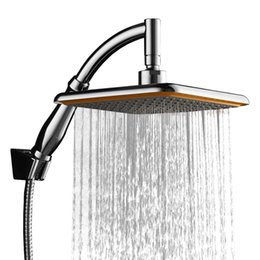 $enCountryForm.capitalKeyWord Australia - 9 Inch Square Thin Rotatable Top Rain Shower Head ABS Chrome Wall Mounted Extension Arm Water Saving Pressure Spray Shower Bath