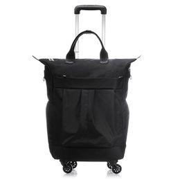 0a5f8a8bc 20 inch Men Business Suitcase Boarding Box Computer Trolley Travel Bag  Women Rolling Luggage Bags Man Waterproof Wheels Handbag