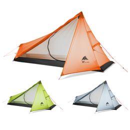 Nylon Coating Australia - 3F UL GEAR Oudoor Ultralight Camping Tent 3 Season Single Person Professional 15D Nylon Silicon Coating Rodless Tent