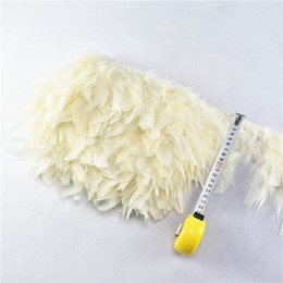 dresses turkey wholesalers Canada - 10m pack Cream Feather Fringe Trimming With Satin Ribbon Marabou Feather Trim Skirt Dress Feather Trim Bordure De Plumes Borde De Plumas